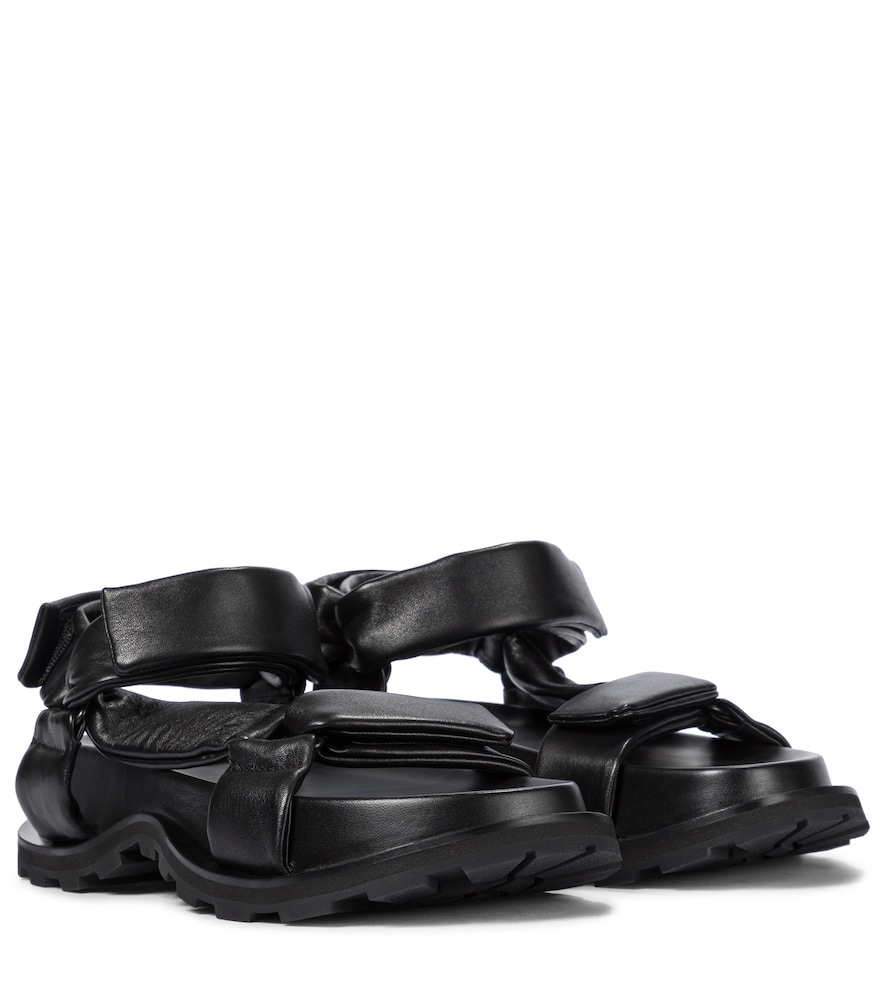 Jil Sander TREKKING LEATHER SANDALS