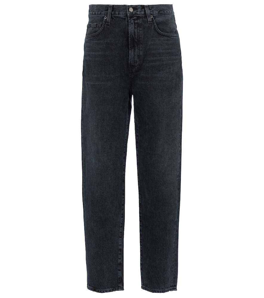 Peg high-rise slim jeans