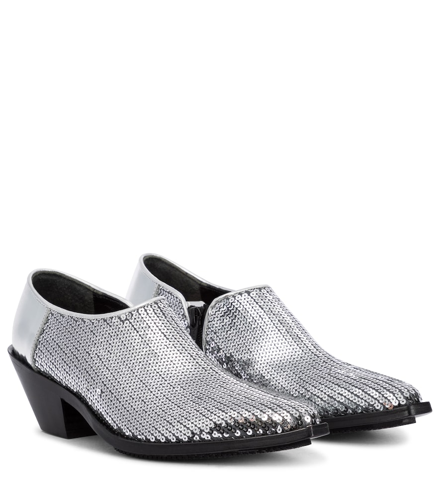Junya Watanabe Leathers SEQUINED ANKLE BOOTS