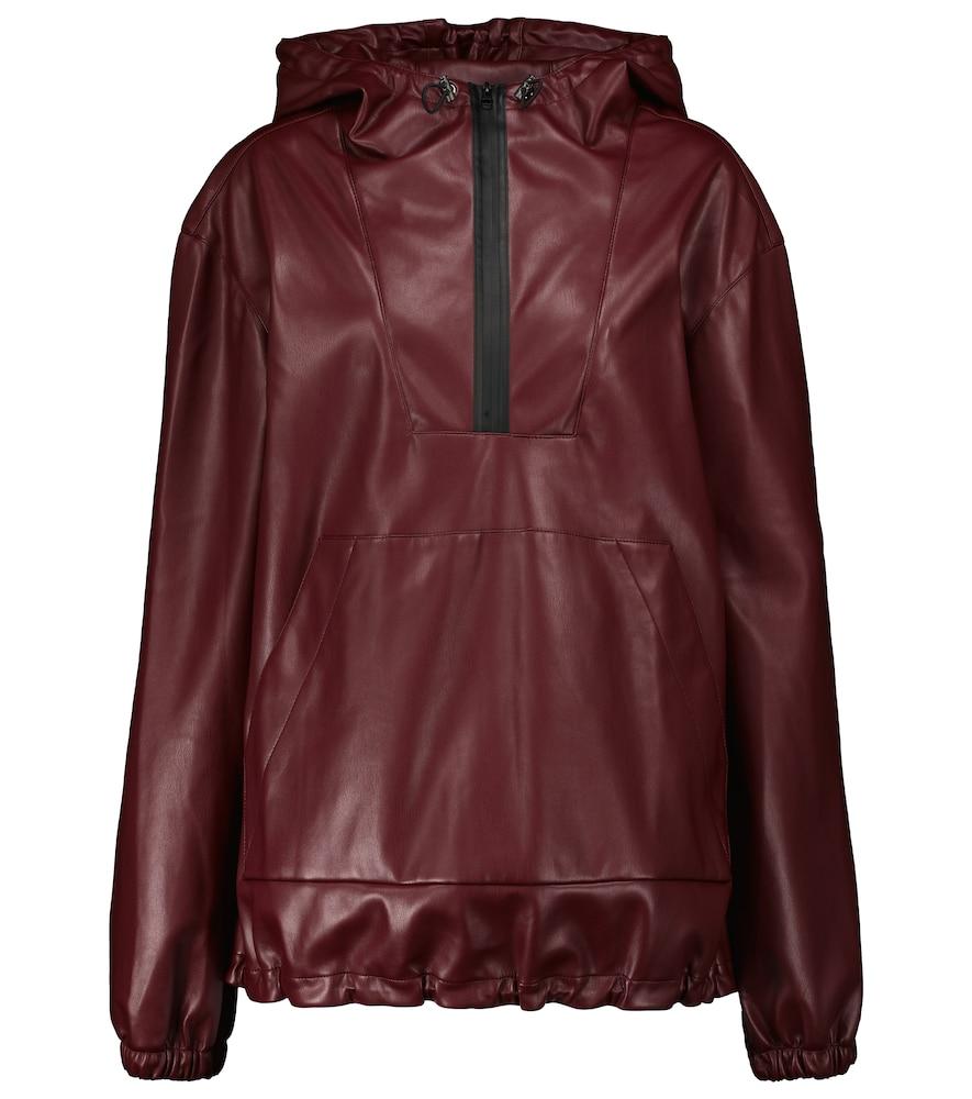 Parker faux leather jacket