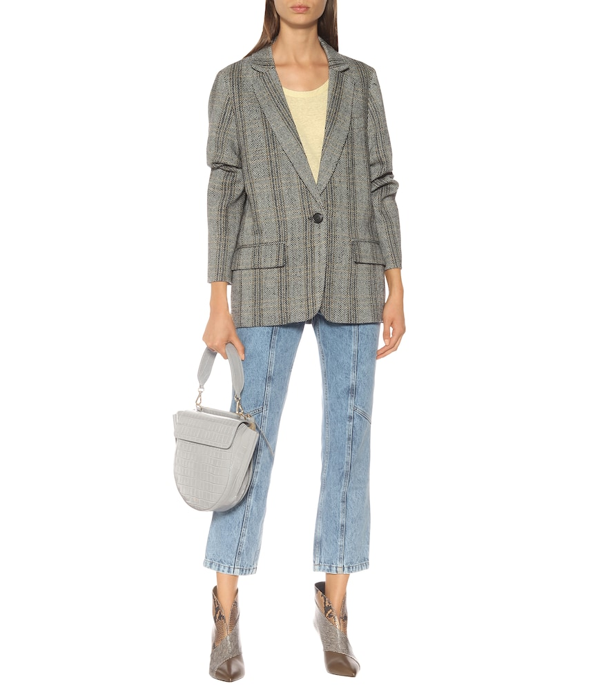 Charly checked wool blazer by Isabel Marant, Étoile