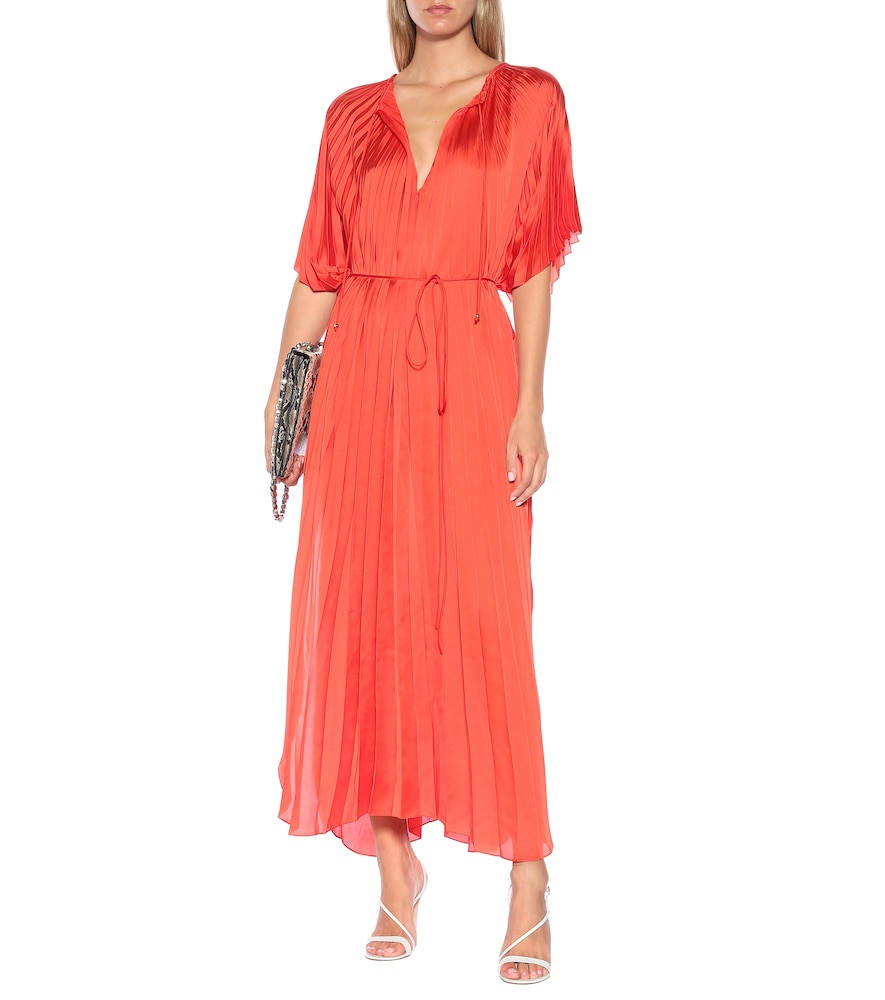 Nowra pleated satin maxi dress by Stella McCartney