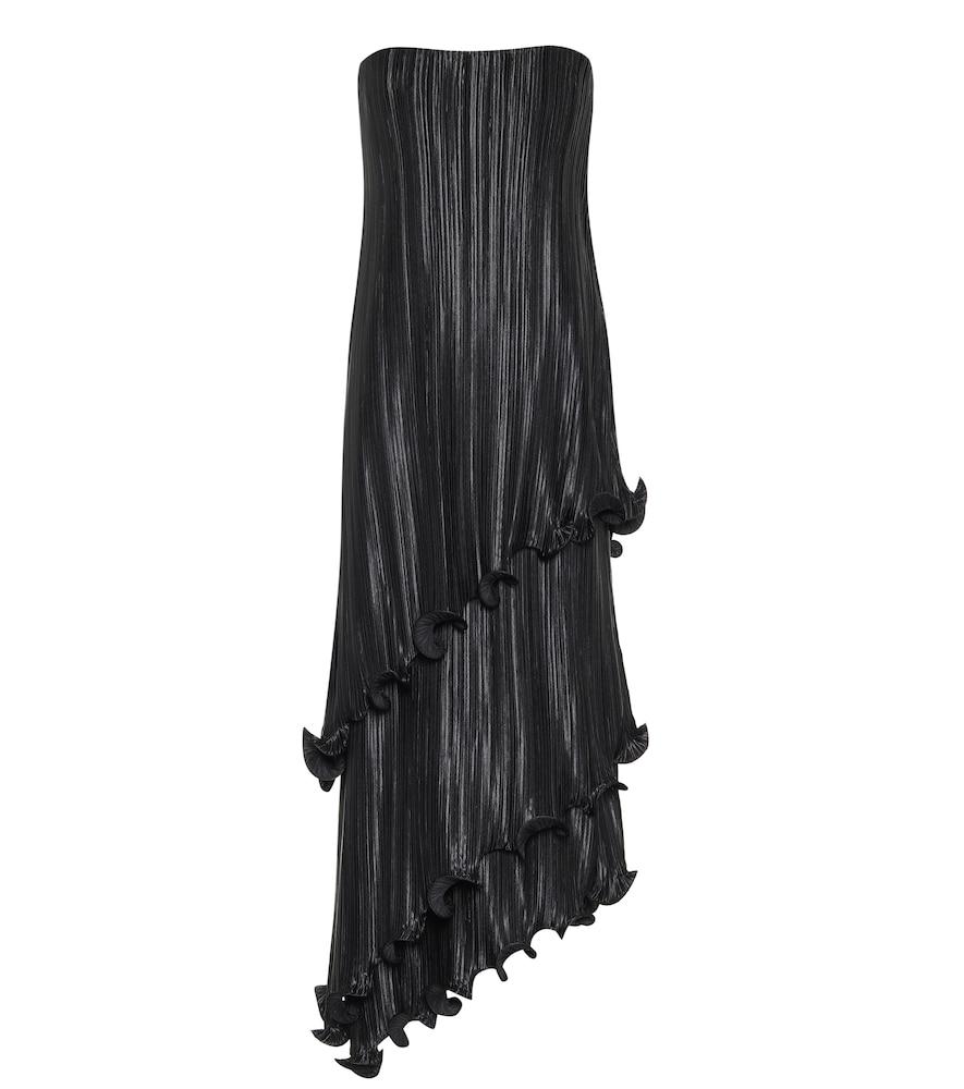 Robe bustier plissée en satin - Givenchy - Modalova