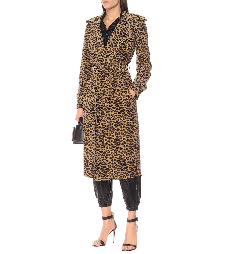 Leopard-print trench coat by Norma Kamali