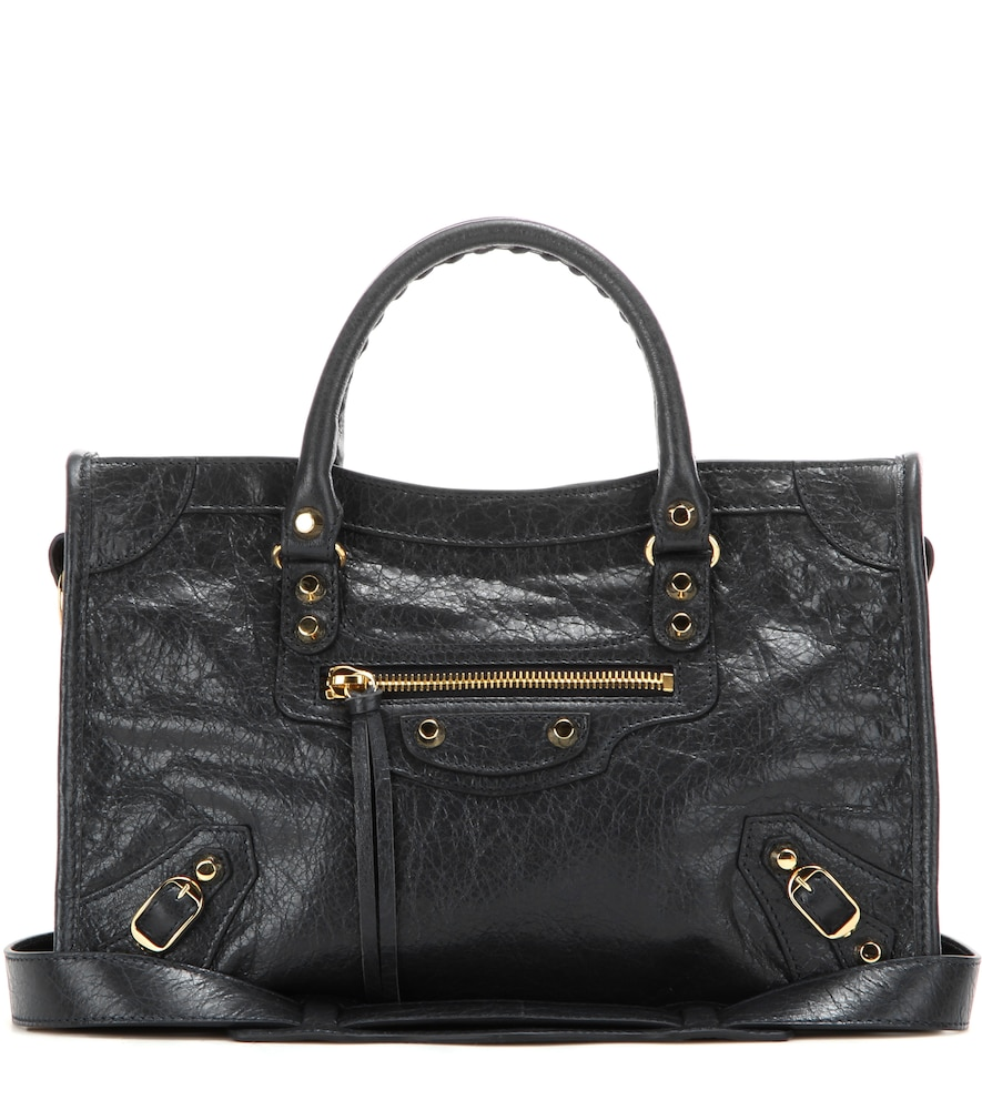 Classic City S Leather Tote in Black