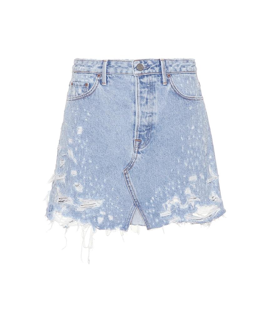 Grlfrnd Milla cotton denim skirt