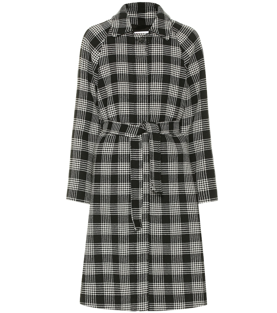 Checked cotton-blend coat by REDValentino