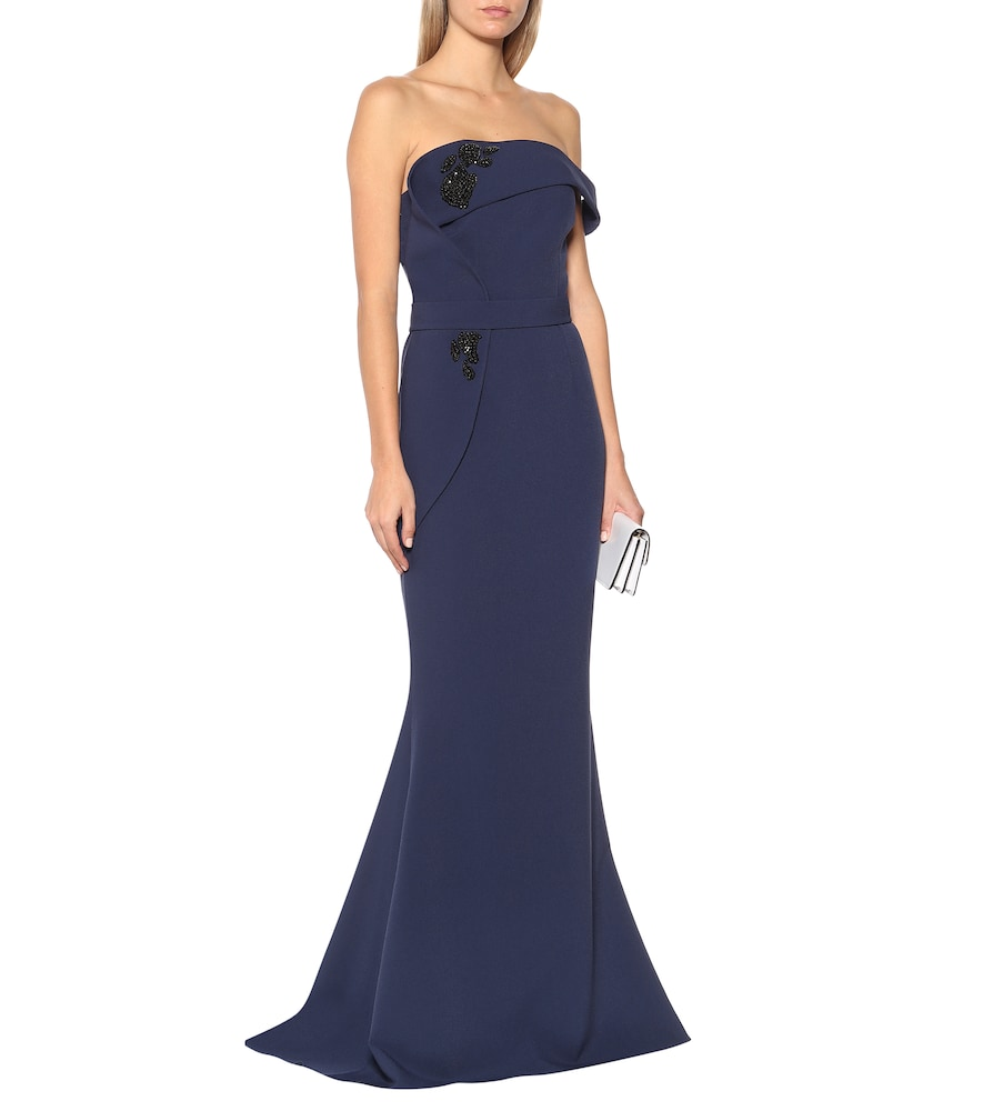Reverie stretch-cr?e gown by Safiyaa