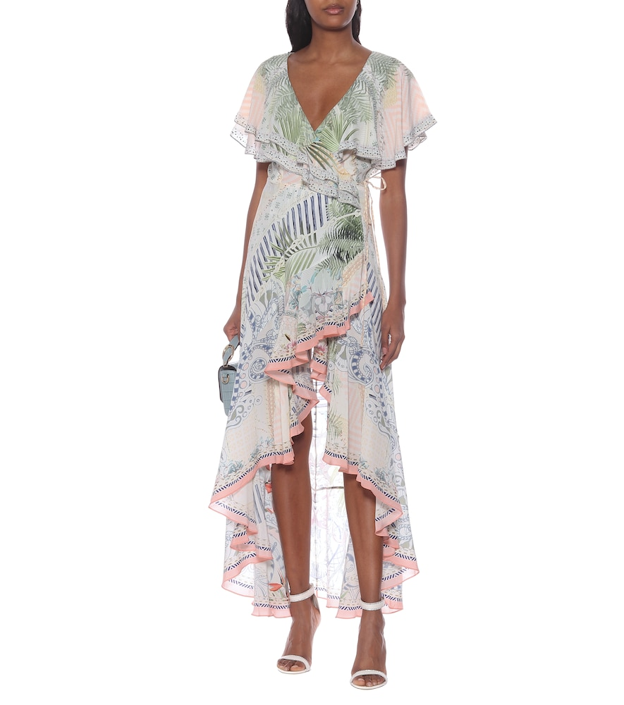 Embellished floral silk maxi dress by Camilla