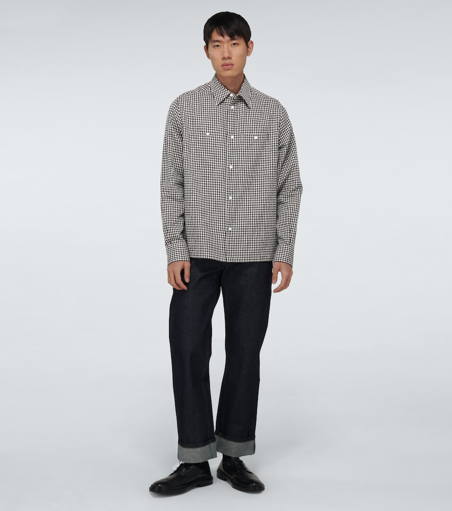 LOEWE Cottons MILITARY POCKET CHECKED SHIRT