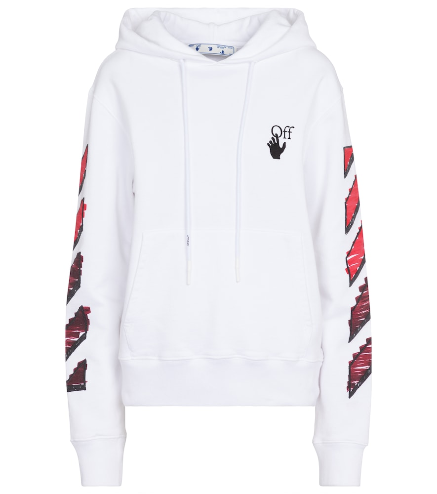 Off-White MARKER ARROWS COTTON JERSEY HOODIE