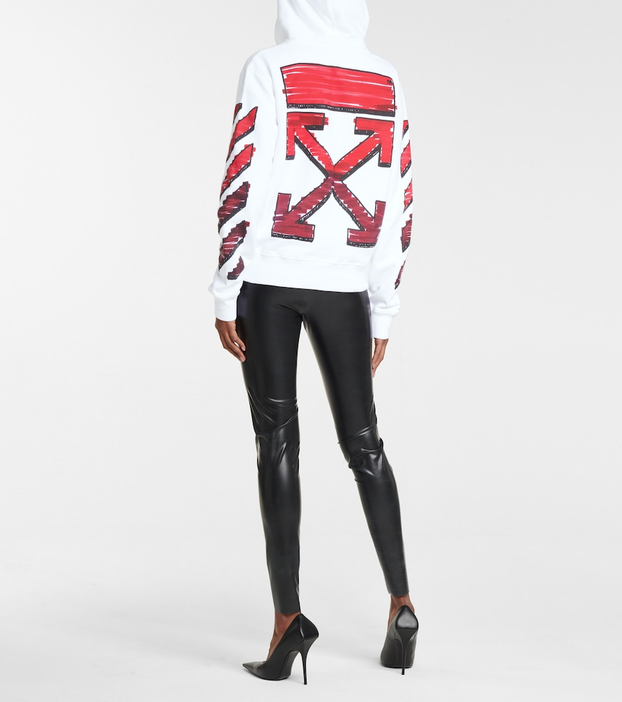 OFF-WHITE Cottons MARKER ARROWS COTTON JERSEY HOODIE