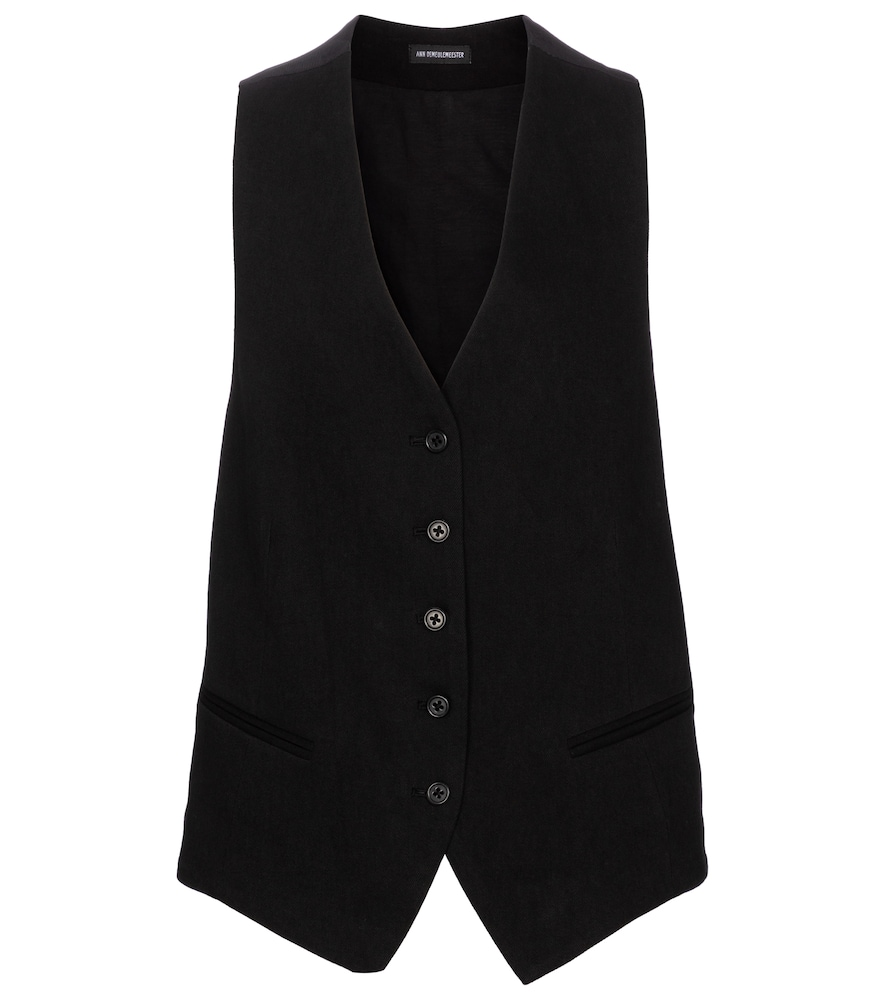 Ann Demeulemeester COTTON AND LINEN VEST