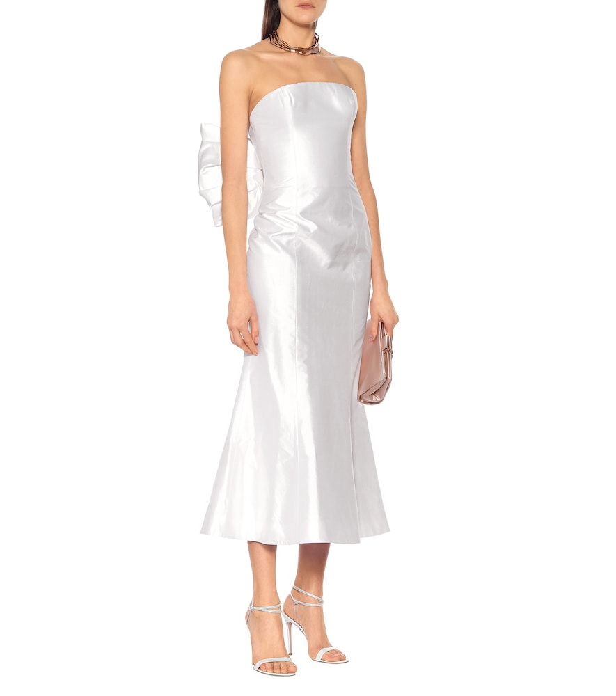 Exclusive to Mytheresa - Silk-satin midi dress by RASARIO