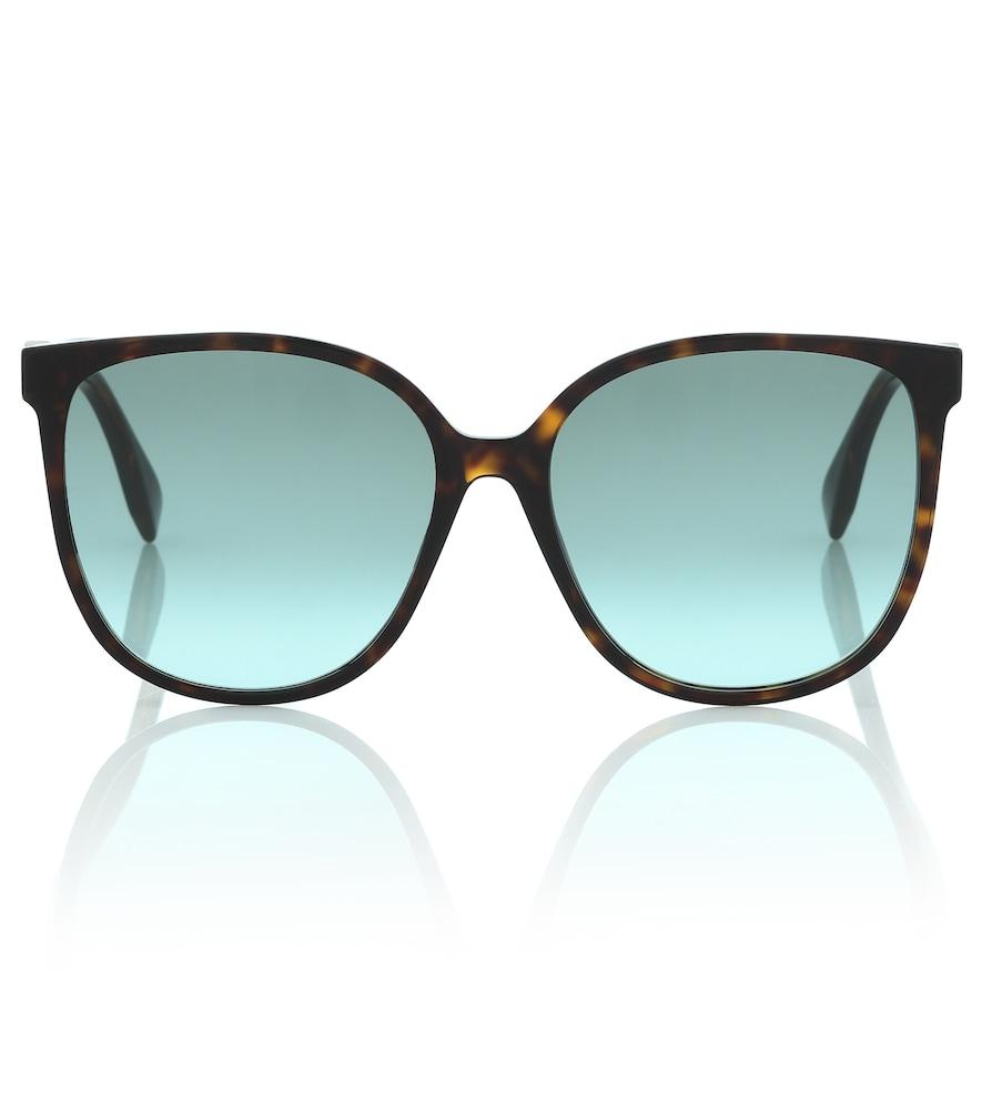 FF square tortoiseshell sunglasses