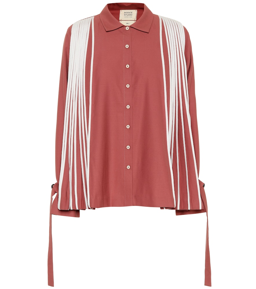 BODICE STUDIO PLEATED MERINO WOOL SHIRT