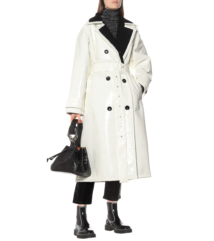 Marissa coated canvas trench coat by Stand Studio