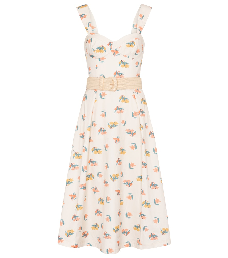 Rebecca Vallance HADI FLORAL COTTON MIDI DRESS