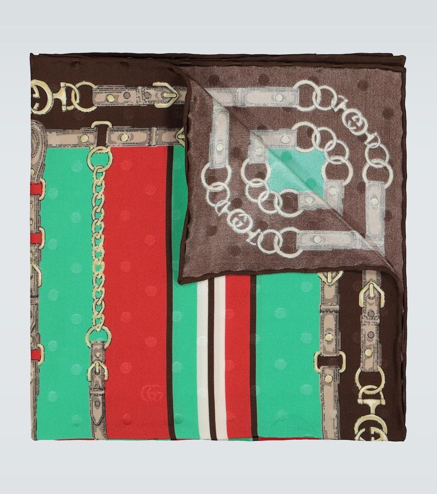 Exclusivité Mytheresa - Pochette de costume en jacquard de soie - Gucci - Modalova