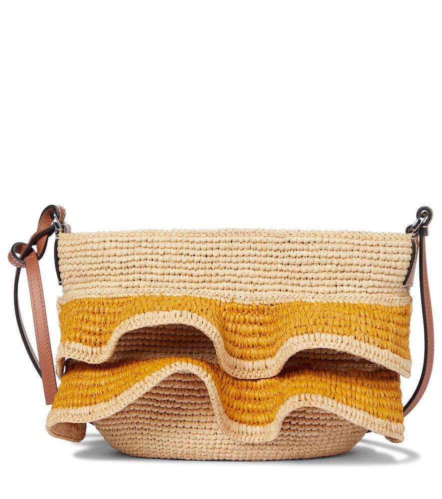 Paula's Ibiza raffia shoulder bag
