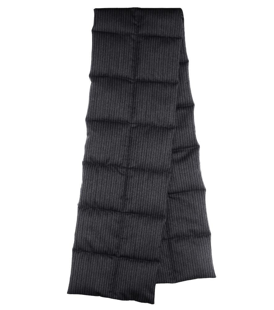 Écharpe rayée en laine matelassée - Dries Van Noten - Modalova