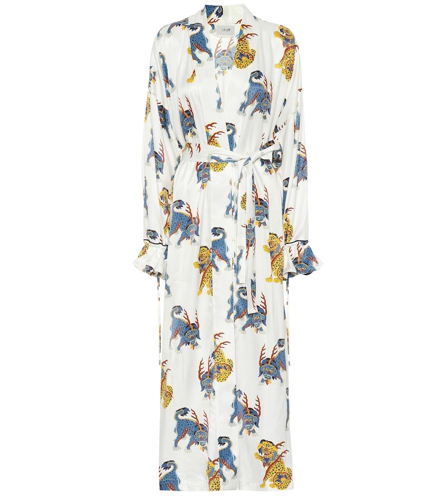 Printed cotton robe