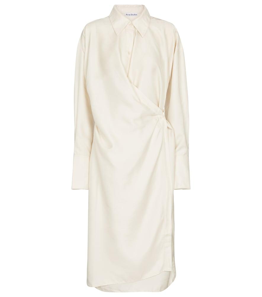 Satin shirt dress by Acne Studios