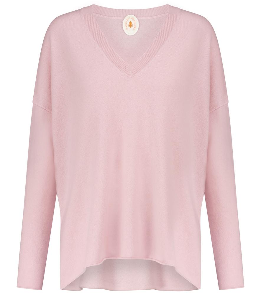 Oversized V-neck cashmere sweater