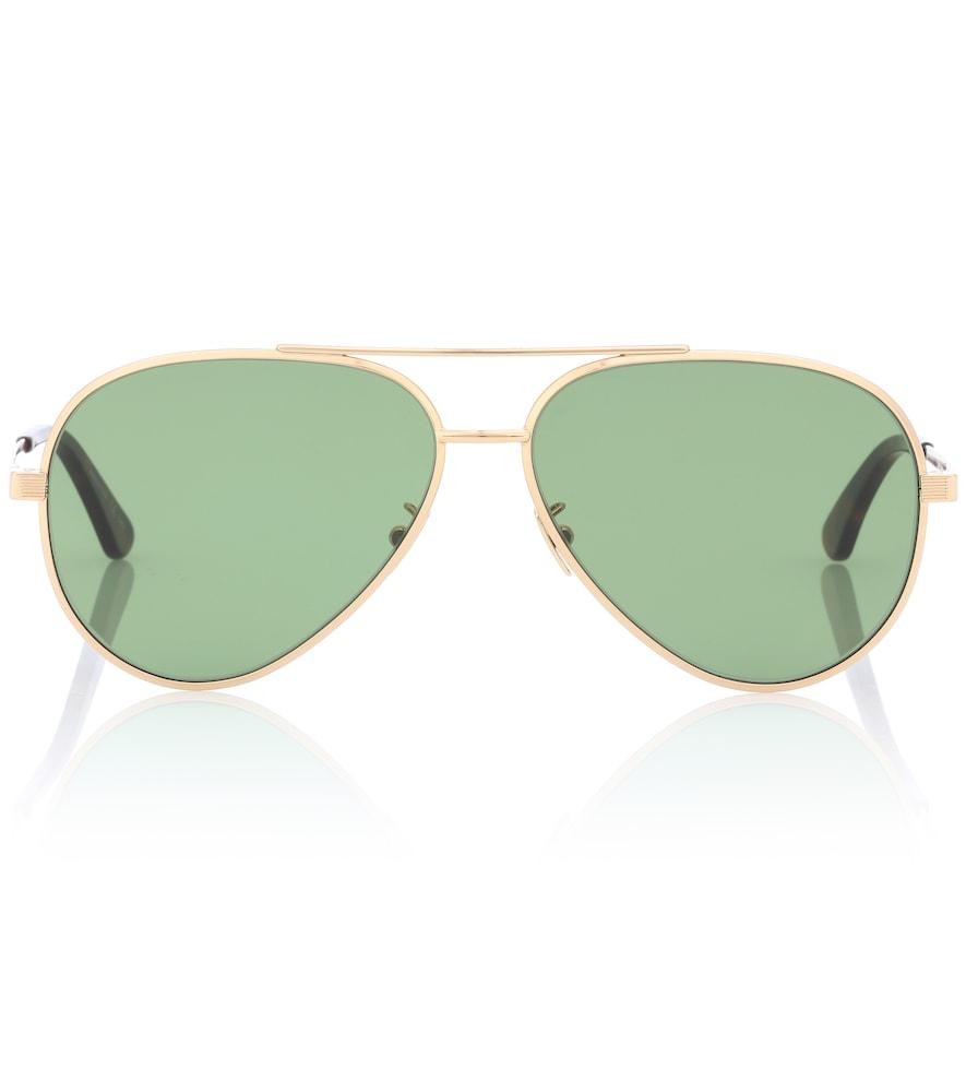 Classic 11 Zero Aviator Sunglasses in Green
