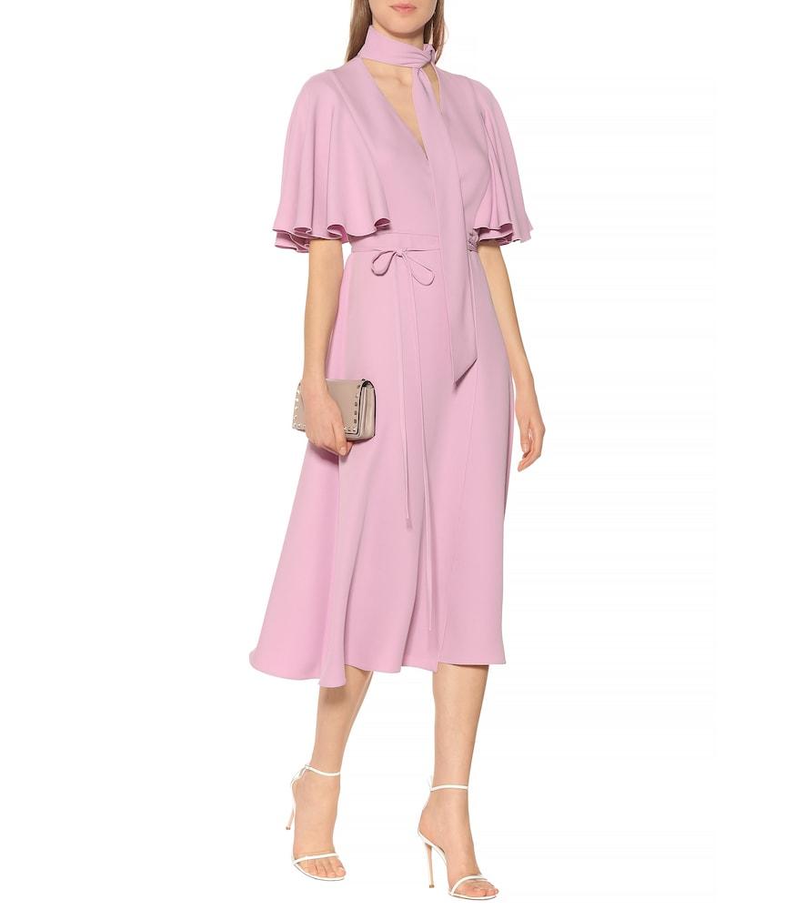 Silk crêpe midi dress by Valentino