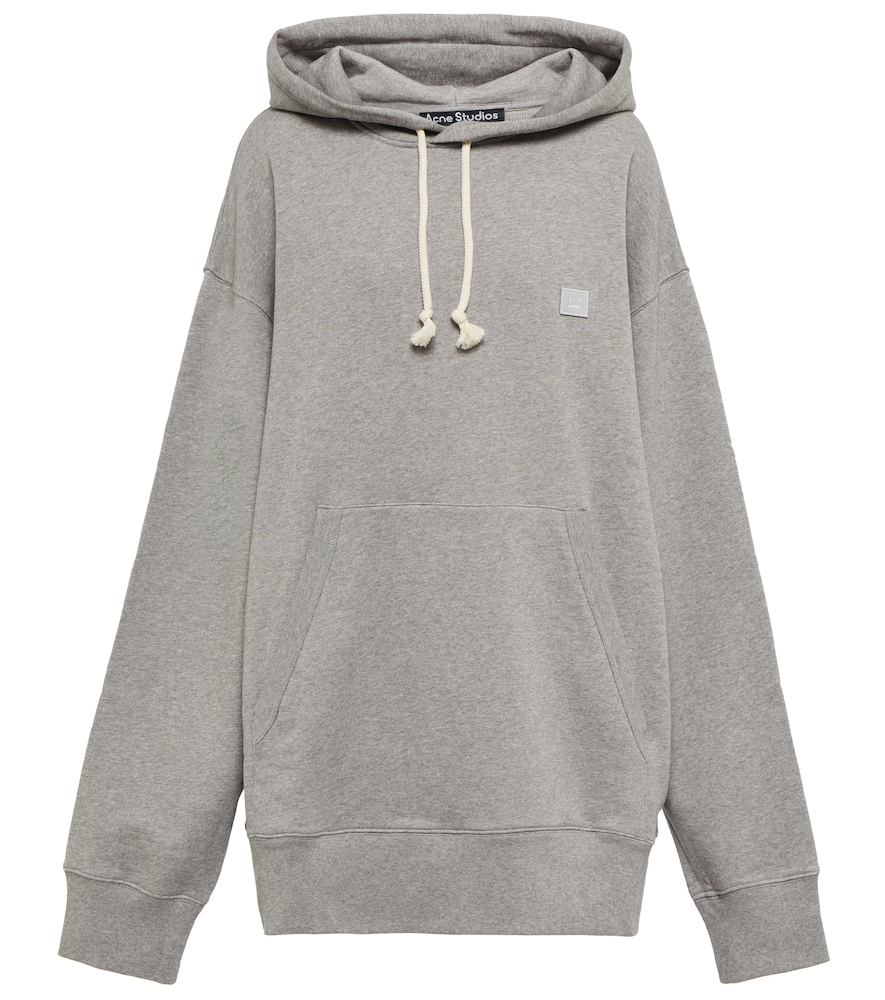 Acne Studios Ferris Face Grey Melangé Cotton Sweatshirt