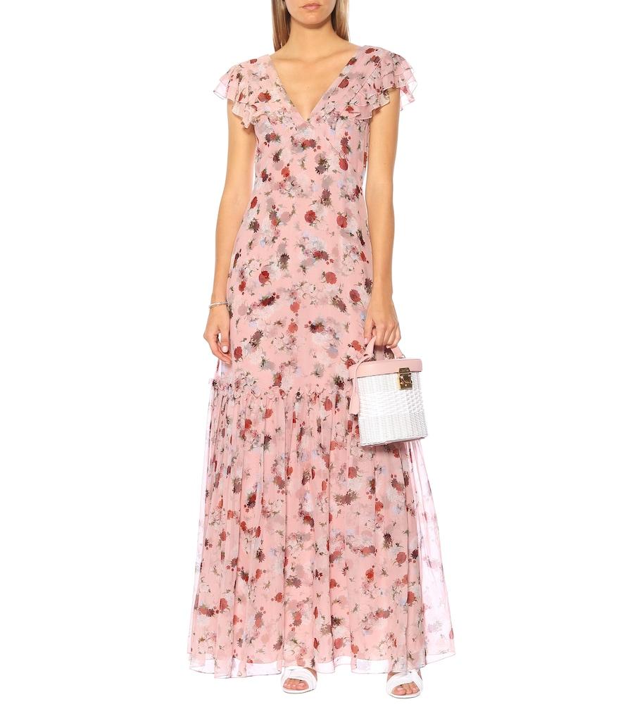 Photo of Exclusive to Mytheresa - Franceline floral silk-voile gown by Erdem - shop Erdem Dresses, Midi & Long Dresses online
