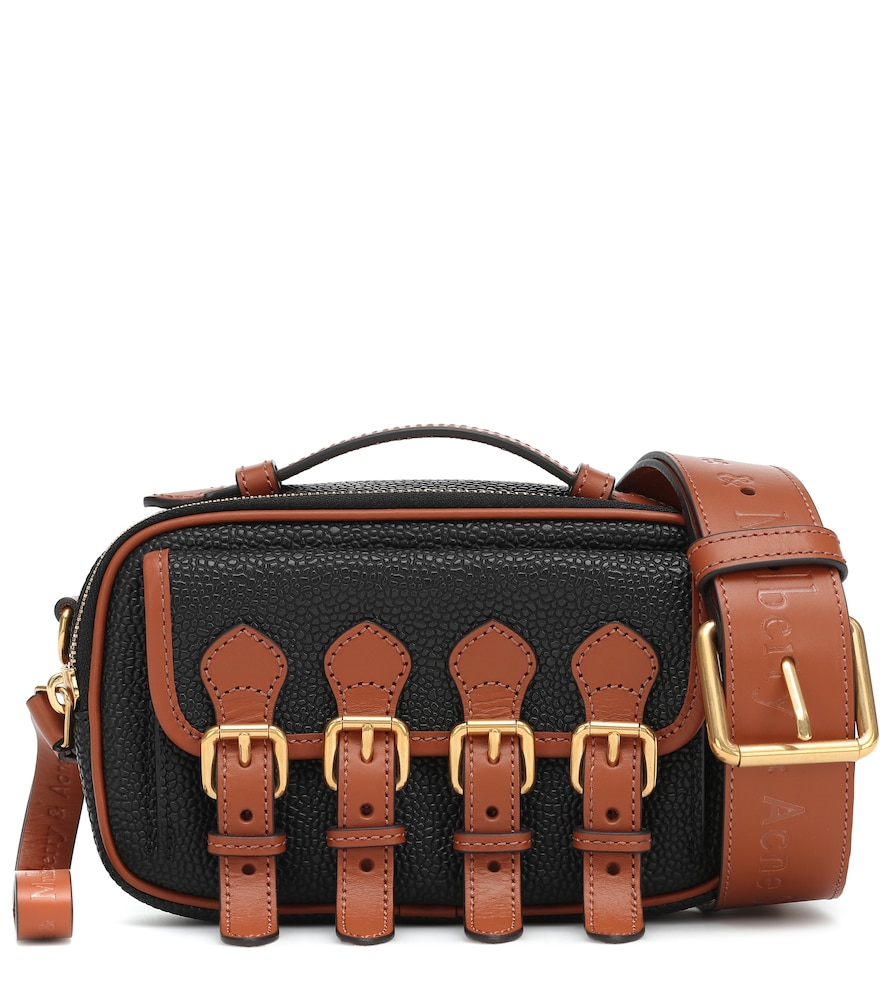 Acne Studios & Mulberry X Mulberry Mini Leather Crossbody Bag In Black