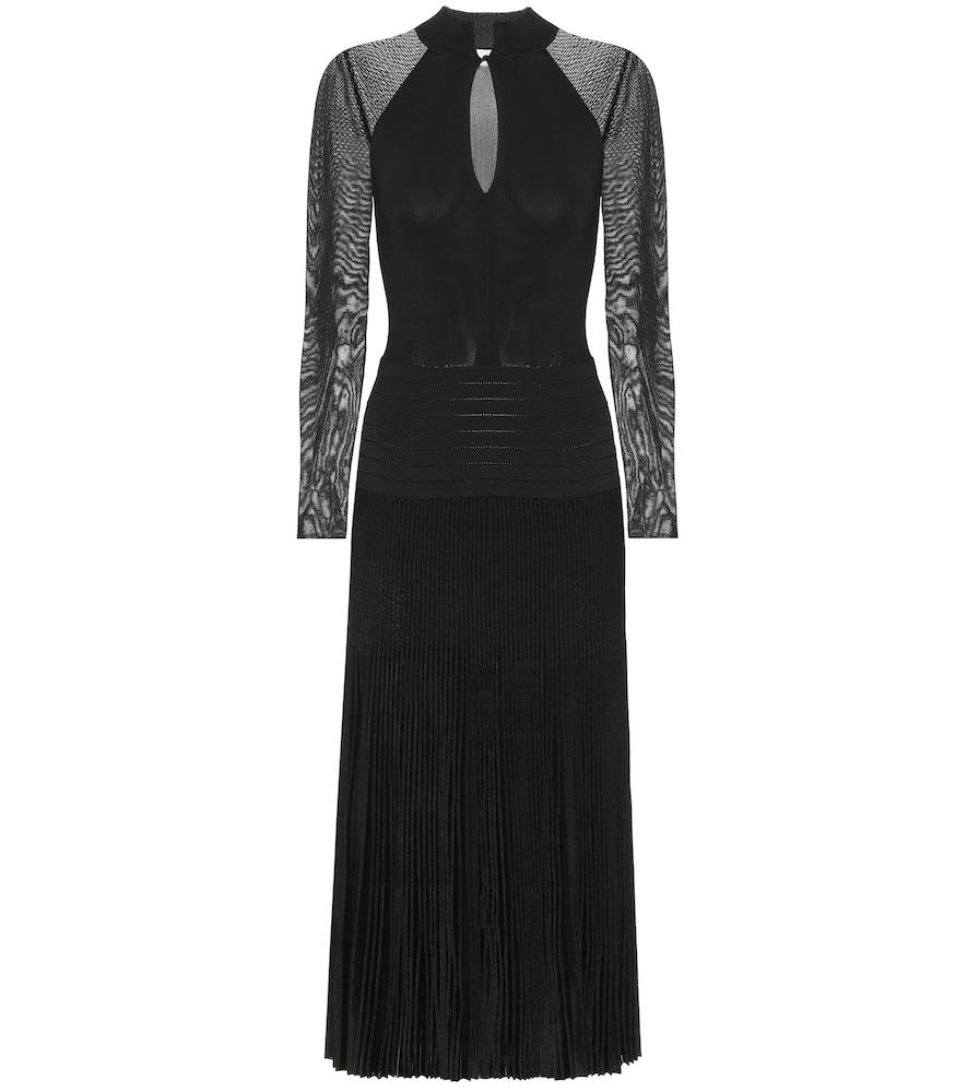 Pleated midi dress by Victoria Beckham