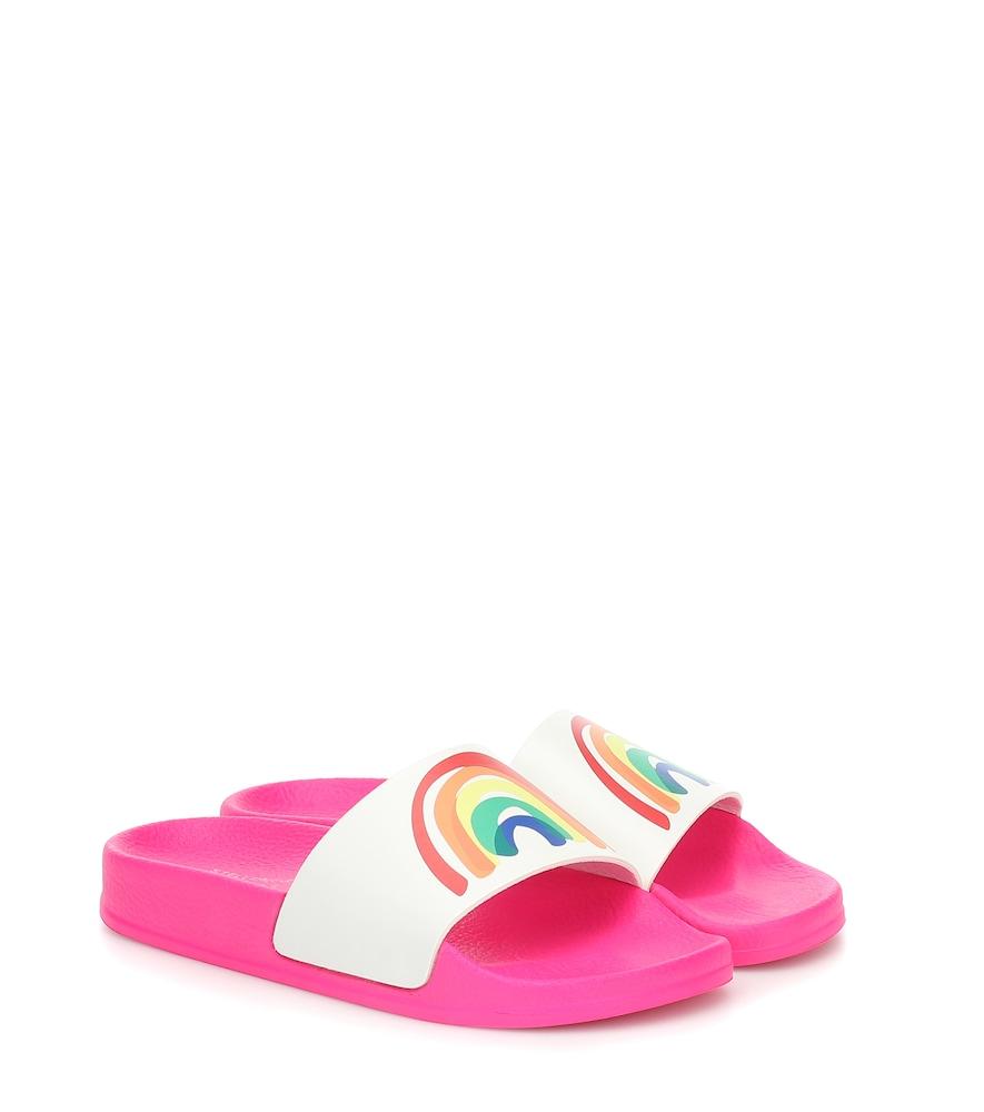 Stella Mccartney Kids' Splash Rainbow Slide Sandal In Pink
