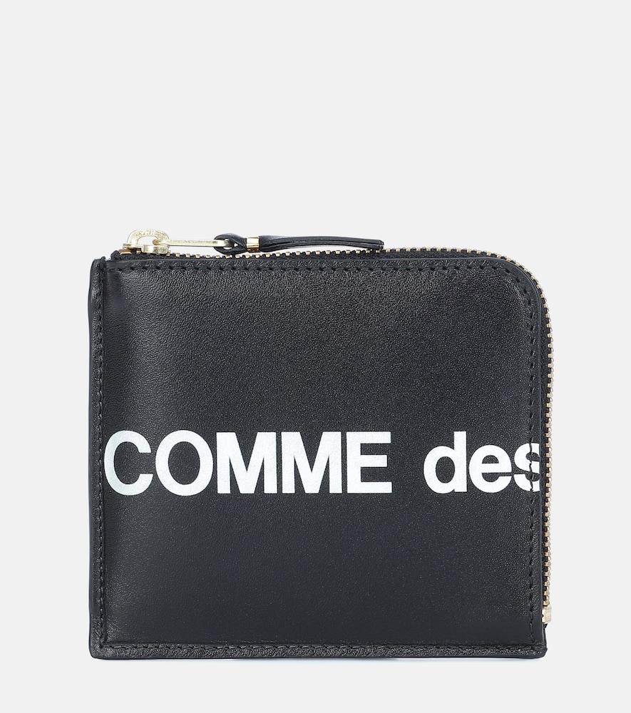 Portefeuille Huge Logo Small en cuir - Comme Des Garçons Wallet - Modalova