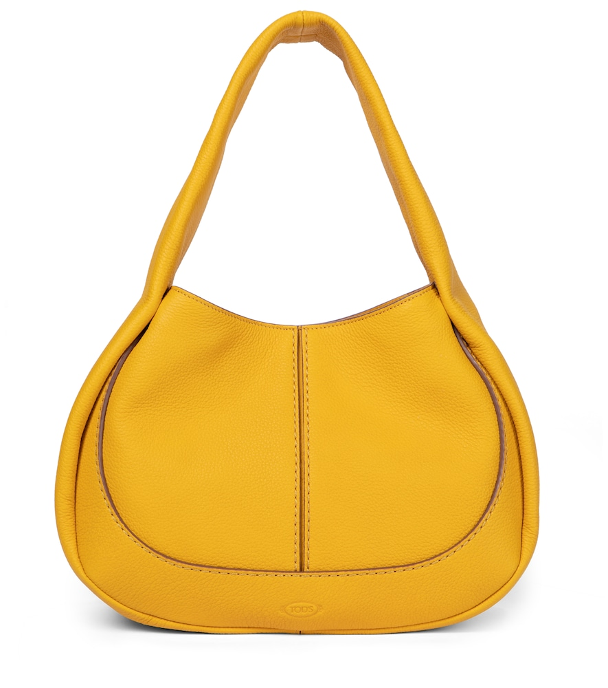Tod's Shirt Small Leather Shoulder Bag In Yellow