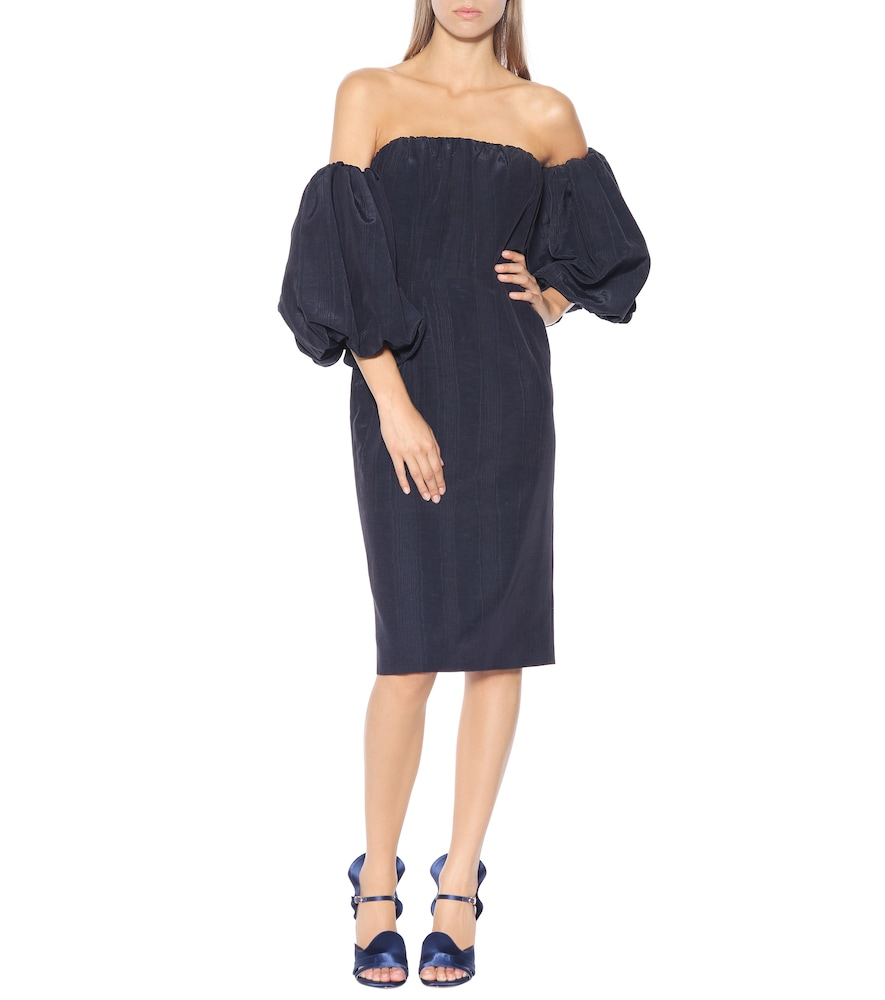 Off-the-shoulder taffeta dress by Stella McCartney