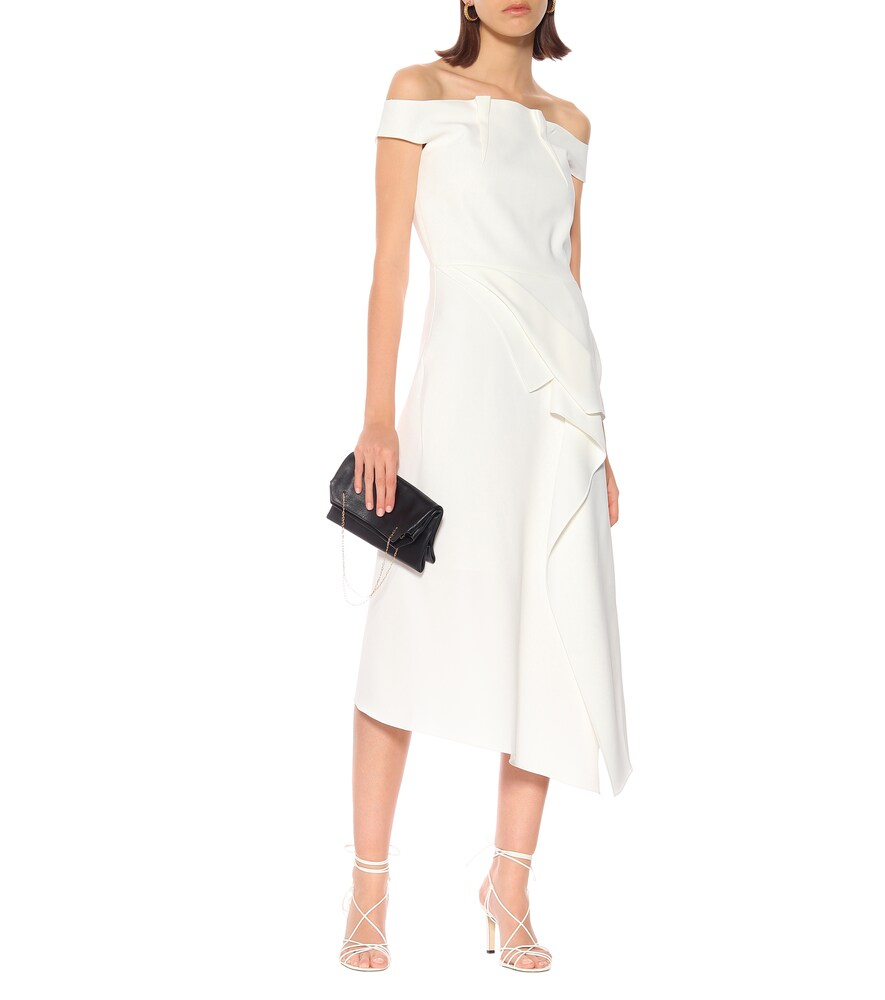 Arch off-the-shoulder midi dress by Roland Mouret