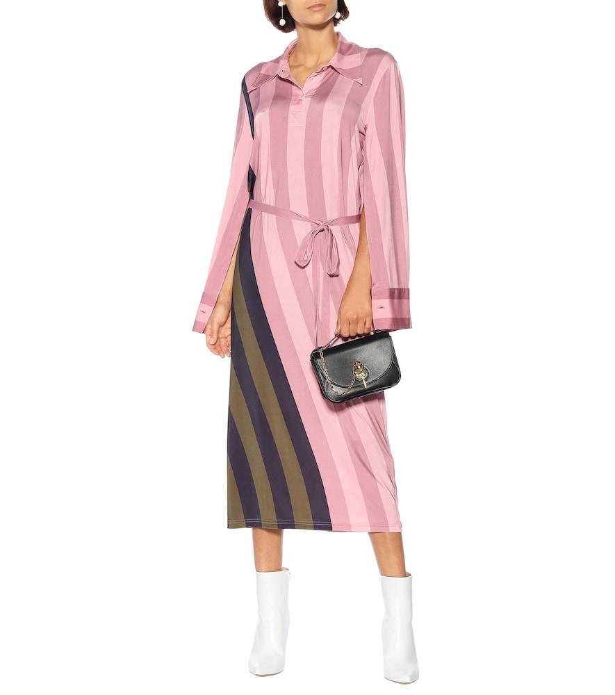 Striped stretch-jersey polo dress by JW Anderson