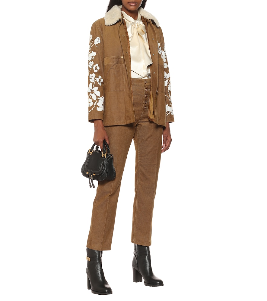 TORY BURCH Cottons SEQUINED COTTON CORDUROY JACKET