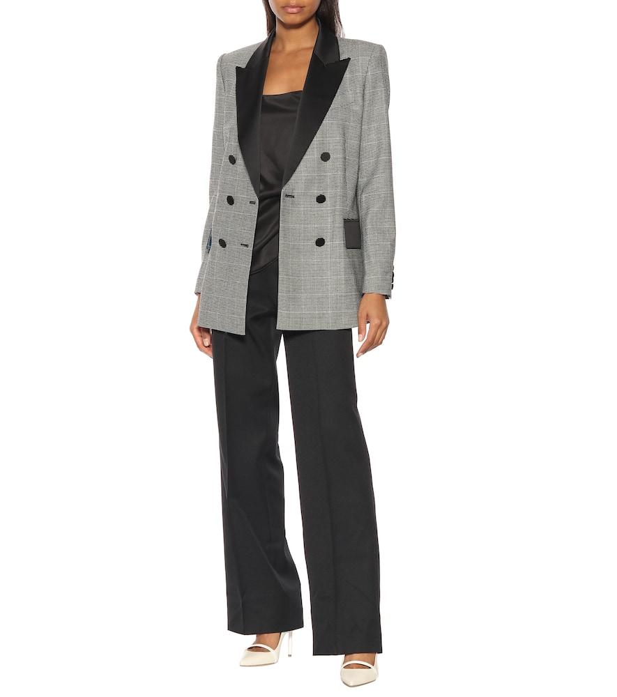 Audrey checked wool blazer by Racil