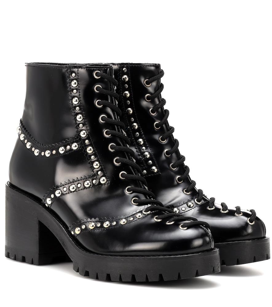 Mcq Alexander Mcqueen Black Studded Hanna Boots