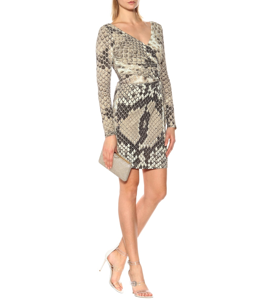 Snakeskin-printed jersey dress by Roberto Cavalli