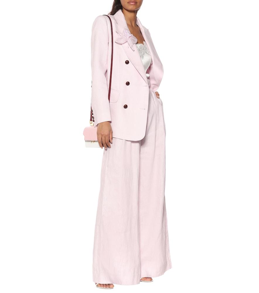 Corsage linen blazer by Zimmermann