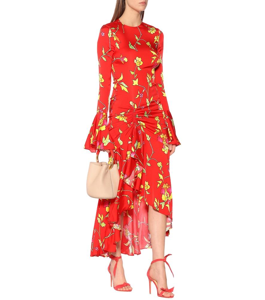 Monique floral silk-blend midi dress by Caroline Constas