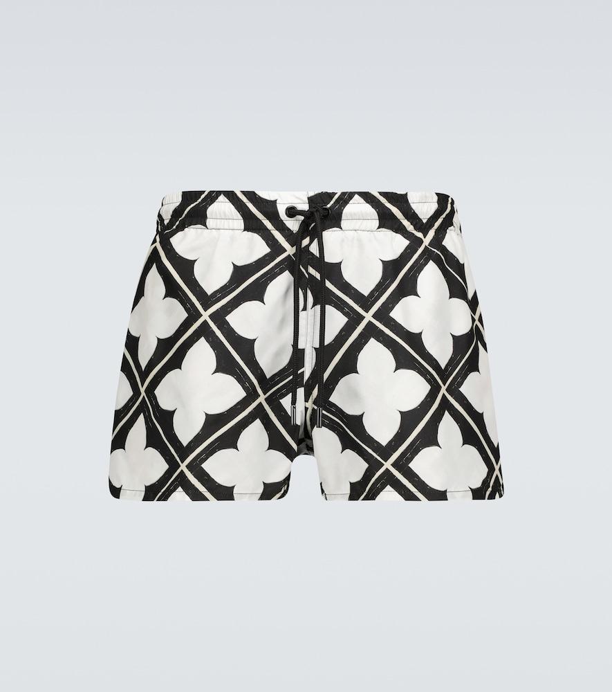 Tile printed swim shorts