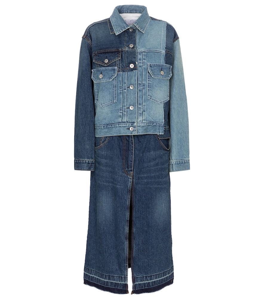 Deconstructed denim jacket