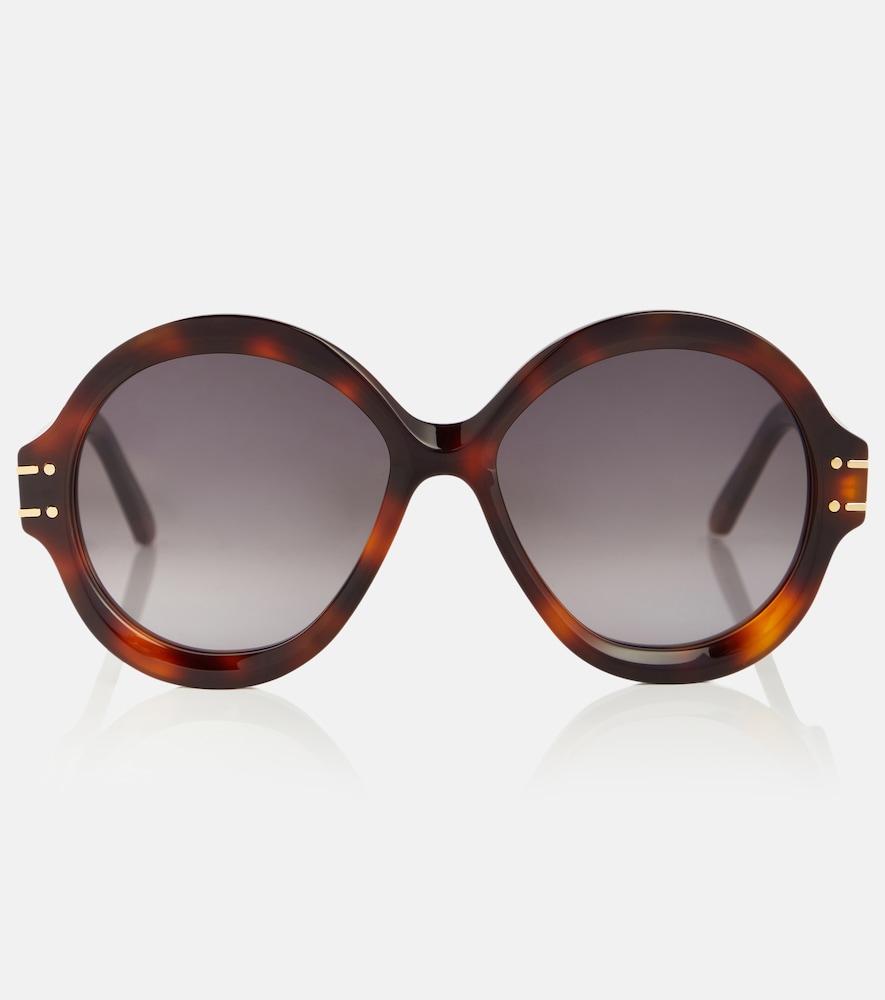 DiorSignature R1U round sunglasses