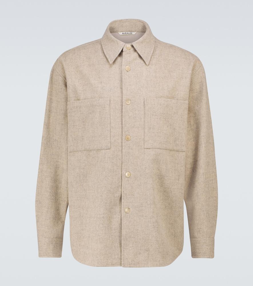 Shetland wool overshirt